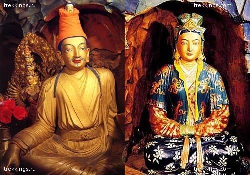 Прекрасная Вень Чен и ее мужа царь Сронцен Гампо.